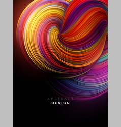 Color flow abstract shape poster design vector