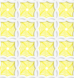 Colored 3D yellow striped pointy squares vector