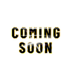 Coming soon poster design isolated white vector