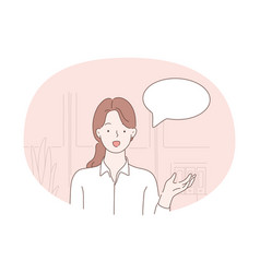 communication chat speaking concept vector image