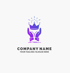 Crown honor king market royal purple business vector
