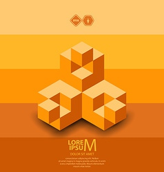 Cubes logo vector