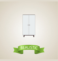 Cupboard realistic element of vector