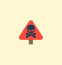 danger sign icon flat element vector image