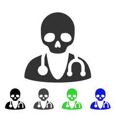 Death doctor flat icon vector