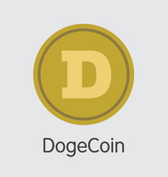 Dogecoin - cryptocurrency logo vector