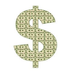 dollar paper sighn vector image