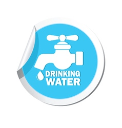 Drinking water BLUE LABEL vector