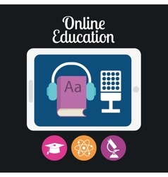 eLearning or online education vector image