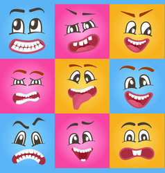Emoji characters set with different expressions vector
