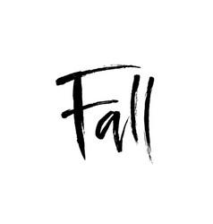 fall brush lettering vector image