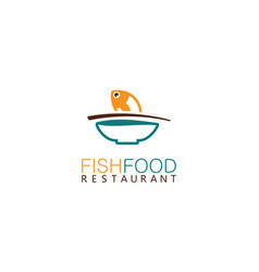 fish food logo vector image