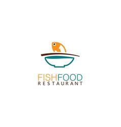 fish food logo vector image