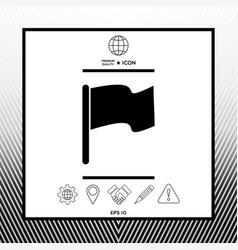Flag symbol icon vector