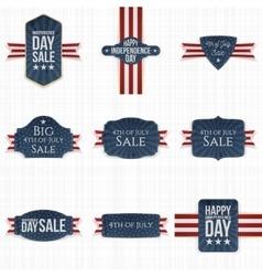 Fourth july patriotic labels set vector