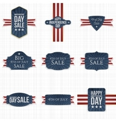 Fourth of July patriotic Labels Set vector image