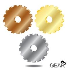 Gear 3D vector