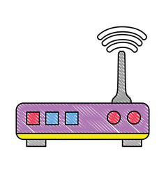 Grated router digital wifi technology network vector