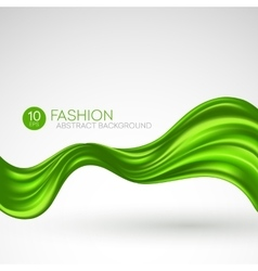 Green flying silk fabric Fashion background vector image