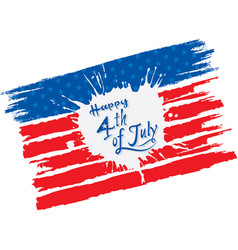 Happy independence day of usa vector