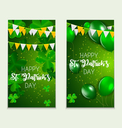 Happy saint patricks day greeting card background vector