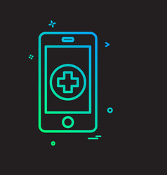 health icon design vector image