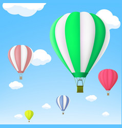 hot air balloon in sky stock vector image