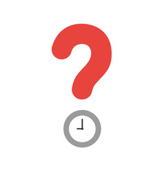 icon concept of question mark with clock time vector image