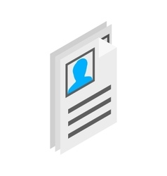 Identification card icon isometric 3d style vector