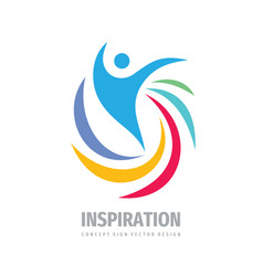 Inspiration creative logo design positive human vector