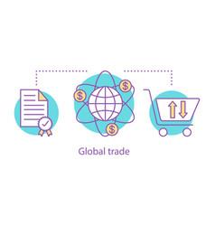 international trade concept icon vector image