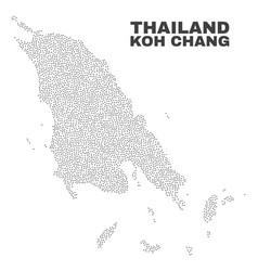Koh chang map of points vector