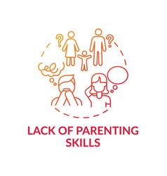 lack parenting skills red gradient concept icon vector image