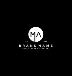 Letter ma logo design vector