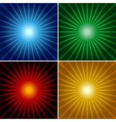 light rays vector image