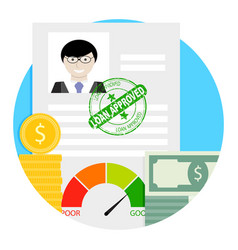 loan approved icon vector image