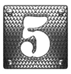 Metal figure 5 vector