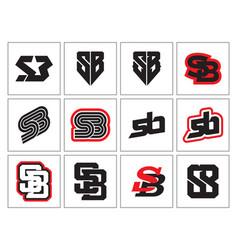 Monogram sb vector