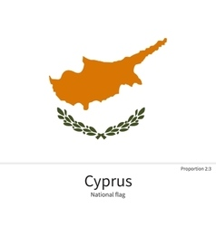 National flag of Cyprus with correct proportions vector image