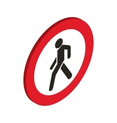 No pedestrian sign icon isometric 3d style vector image