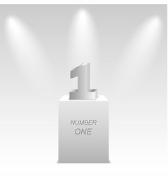 number 1 one on podium on white background vector image