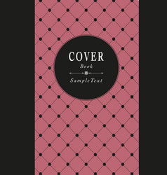 Old style book cover decorated with star grid vector
