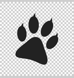 paw print icon isolated on isolated background vector image