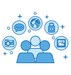 People community conection communication network vector