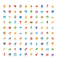 perfect colorful icons vector image