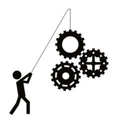 person fishing gears icon vector image