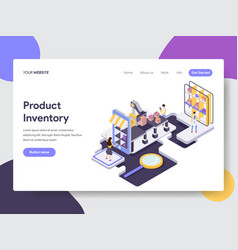 Product inventory isometric vector