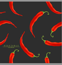 red hot peppers vector image