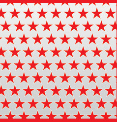 Red stars on a white background vector
