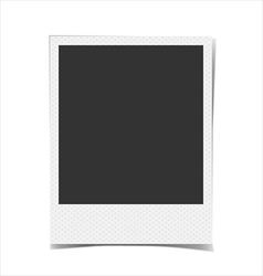 Retro blank photo frame background vector image